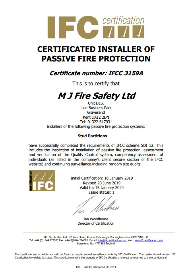 IFC Passive Fire Certification